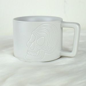 Brand New Starbucks Halloween White Skull Mug